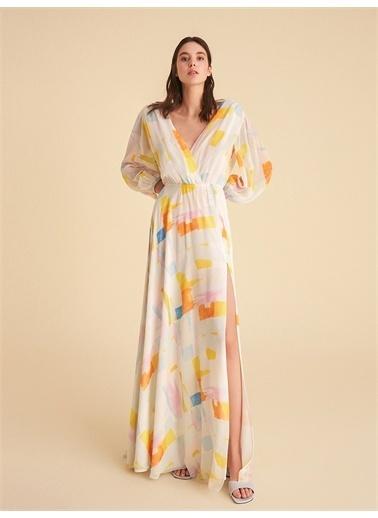 Nocturne Balon Kol Yırtmaçlı Elbise Renkli